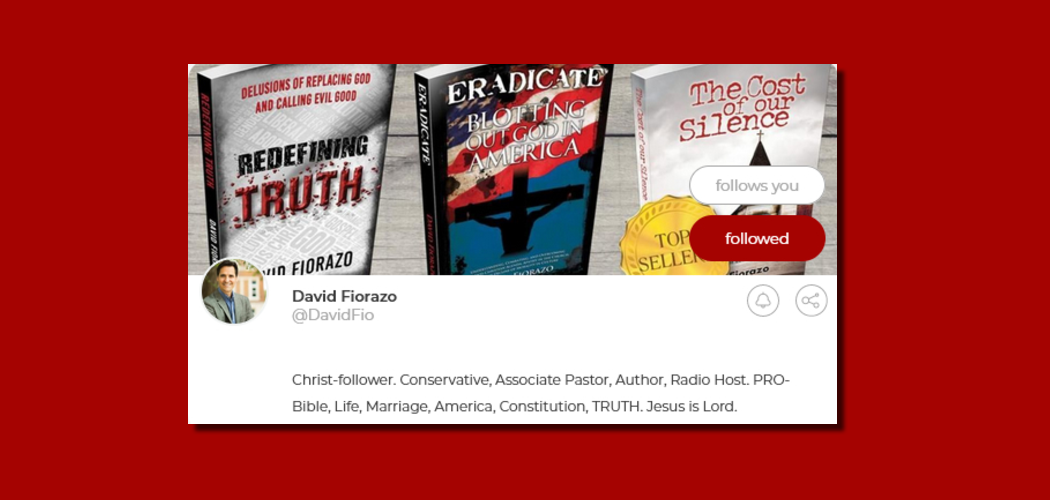 Are you on Parler.com? Connect with David Fiorazo