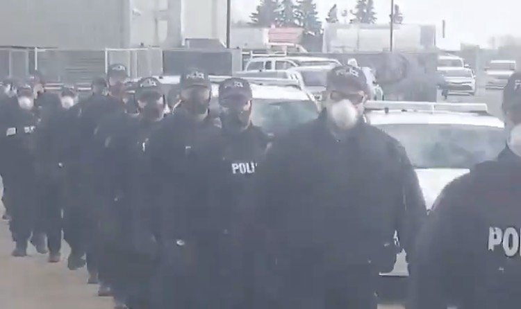"""""""The Shock Troops Are Coming!"""" – 200 Heavily-Armed Canadian Police Deployed to Edmonton Church to Harass Christians"""